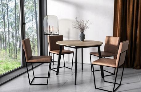 Stół okrągły loftowy Torsen (rozkładany) (1)