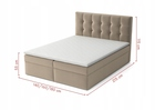 Łóżko Kontynentalne Hotelowe Pojemnik Dorm BOX (4)