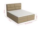 Łóżko kontynentalne Decor Box z pojemnikiem (6)